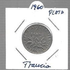 Monedas antiguas de Asia: MONEDA PLATA FRANCIA LA QUE VES 1960. Lote 288690223