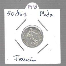 Monedas antiguas de Asia: MONEDA PLATA FRANCIA LA QUE VES AÑO 1913. Lote 288692413