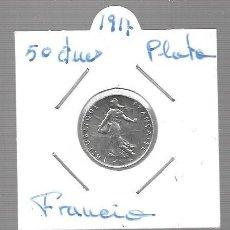 Monedas antiguas de Asia: MONEDA PLATA FRANCIA LA QUE VES AÑO 1917. Lote 288692813