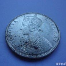 Monedas antiguas de Asia: 95SCK16 INDIA BRITÁNICA VICTORIA 1 RUPIA DE PLATA 1900 BOMBAY. Lote 288728598
