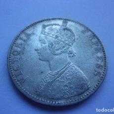 Monedas antiguas de Asia: 86SCK16 INDIA BRITÁNICA VICTORIA 1 RUPIA DE PLATA 1893 BOMBAY. Lote 288731313