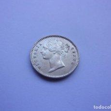 Monedas antiguas de Asia: 86SCK16 INDIA BRITÁNICA VICTORIA 2 ANNAS DE PLATA 1841 SC. Lote 288739583