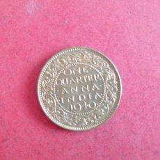 Monedas antiguas de Asia: 1/4 DE ANNA DE LA INDIA 1940. Lote 289392878