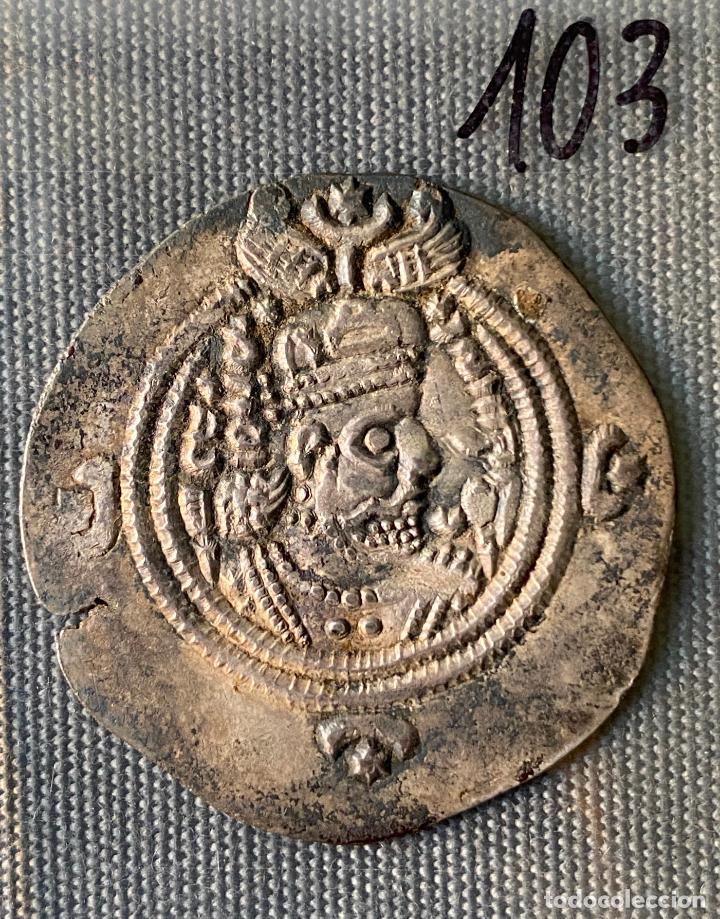 IMPERIO SASANIDA , DRACMA , SASANIAN KINGS , KHUSRU II , DRACHM, (Numismática - Extranjeras - Asia)