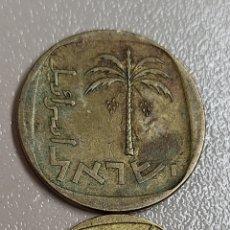 Monedas antiguas de Asia: LOTE 3 MONEDAS ISRAEL 5 10 AGOROT. Lote 290473173