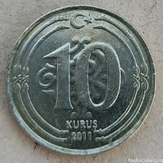 Monedas antiguas de Asia: TURQUÍA 10 KURUS 2011. Lote 290986833