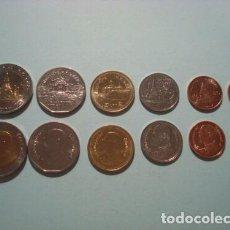 Monedas antiguas de Asia: SET TAILANDIA 1987-2005 (0.25, 0,50 SATANG ,1,2,5 Y 10 BAHT SIN CIRCULAR / UNC. Lote 294083738