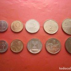Monedas antiguas de Asia: SERIE ISRAEL 1985-1999 (1,5,10 AGOROT 1/2 Y 1 NEW SHEQEL ) SIN CIRCULAR / UNC. Lote 294084163