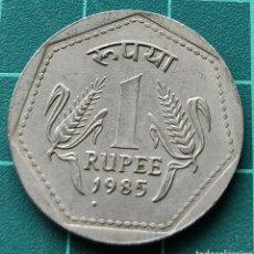 Monedas antiguas de Asia: INDIA 1 RUPIA 1985. Lote 295513963