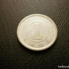Monedas antiguas de Asia: JAPON ( AKIHITO ) 1 YEN AÑO 4 - 1992. Lote 295768573