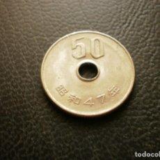 Monedas antiguas de Asia: JAPON ( HIROHITO ) 50 YEN AÑO 47 - 1972. Lote 295769643