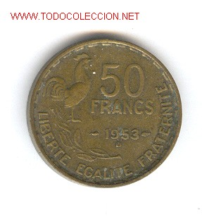 MONEDA FRANCESA DE 50 FRANCOS,1953 (Numismática - Extranjeras - Europa)