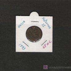 Monedas antiguas de Europa: PRECIOSA PIEZA DE RUSIA KATHERINE II 1793 DE COBRE . Lote 20959400