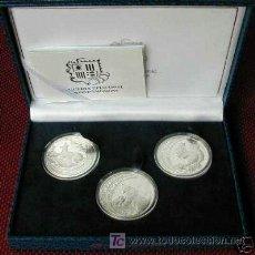Monedas antiguas de Europa: LUJOSO ESTUCHE ANDORRA FAUNA PLATA DE 3 MONEDAS DE 1992. Lote 22923136