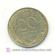 Monedas antiguas de Europa: 4-509. MONEDA FRANCIA. 20 CENTIMOS 1981. BIEN CONSERVADOS. Lote 5356526