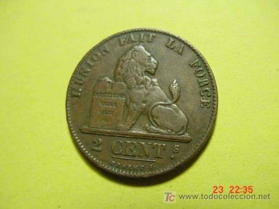 2405 BELGICA 2 CTMOS AÑO 1863 - MAS MONEDAS EN MI TIENDA COSAS&CURIOSAS (Numismática - Extranjeras - Europa)