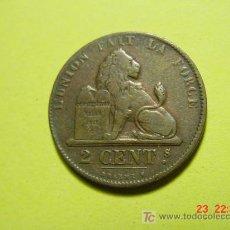 Monedas antiguas de Europa: 2406 BELGICA 2 CTMOS AÑO 1862 - MAS MONEDAS EN MI TIENDA COSAS&CURIOSAS. Lote 5974444