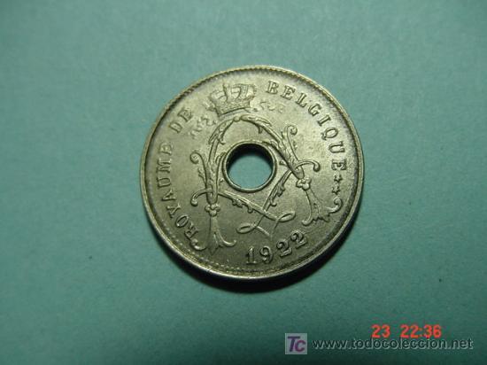 2408 BELGICA 5 CTMOS AÑO 1922 SC - MAS MONEDAS EN MI TIENDA COSAS&CURIOSAS (Numismática - Extranjeras - Europa)