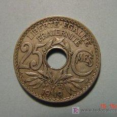 Monedas antiguas de Europa: 3199 FRANCIA 25 CENTIMES AÑO 1919 - MIRA MAS MONEDAS DE ESTE PAIS EN MI TIENDA COSAS&CURIOSAS. Lote 6162488