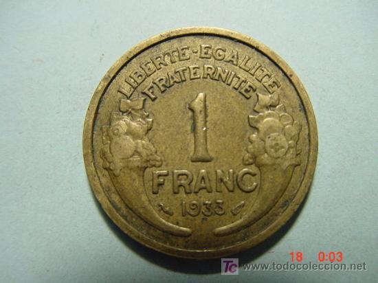 3281 FRANCIA FRANCE 1 FRANCO AÑO 1933 - MAS MONEDAS DE FRANCIA EN MI TIENDA COSAS&CURIOSAS (Numismática - Extranjeras - Europa)