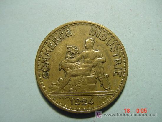 3284 FRANCIA FRANCE 1 FRANCO AÑO 1924 - MAS MONEDAS DE FRANCIA EN MI TIENDA COSAS&CURIOSAS (Numismática - Extranjeras - Europa)