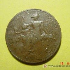 Monedas antiguas de Europa: 3298 FRANCIA FRANCE 5 CTMES AÑO 1911 - MAS MONEDAS DE FRANCIA EN MI TIENDA COSAS&CURIOSAS. Lote 6199087