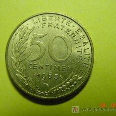 Monedas antiguas de Europa: 3343 FRANCIA FRANCE 50 CTMES AÑO 1963 -MAS MONEDAS DE FRANCIA EN MI TIENDA COSAS&CURIOSAS. Lote 6205419