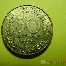 Monedas antiguas de Europa: 3344 FRANCIA FRANCE 50 CTMES AÑO 1962 -MAS MONEDAS DE FRANCIA EN MI TIENDA COSAS&CURIOSAS. Lote 6205444