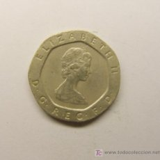 Monedas antiguas de Europa: MONEDA DE 20 PENIQUES, AÑO 1982. INGLATERRA.. Lote 7285541