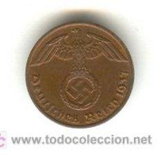 Monedas antiguas de Europa: ALEMANIA TERCER REICH PRECIOSO PFENING 1937 LETRA A ALEMANIA TERCER REICH. Lote 27165079