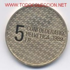 Monedas antiguas de Europa: 89- SUIZA- 5 FRANCOS- 1989-PROF. Lote 2117745