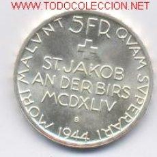 Monedas antiguas de Europa: 99- SUIZA- 5 FRANCOS- 1944-. Lote 2336150
