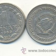 Monedas antiguas de Europa: 4-988. MONEDA YUGOSLAVIA. 1 DINAR 1965. Lote 10135712