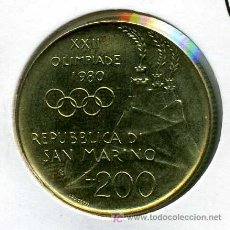 Monedas antiguas de Europa: SAN MARINO : 200 LIRAS 1980. Lote 11091603