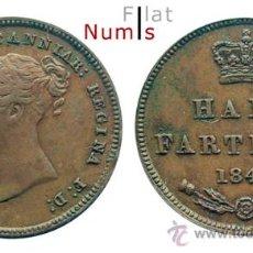 Monedas antiguas de Europa: GRAN BRETAÑA - 1/2 FARTHING - 1844 - E.B.C. - COBRE. Lote 26834027