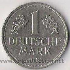 Monedas antiguas de Europa: 1 DEUTSCHE MARK. 1982. F. BUNDESREPUBLIK DEUTSCHLAND. REPUBLICA FEDERAL ALEMANA. KM110.. Lote 18636399