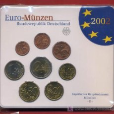 Monedas antiguas de Europa: 5 CARTERAS, SETS, ESTUCHES DE ALEMANIA , EUROS 2002 ,ORIGINALES. COMPLETA. Lote 125266231