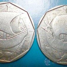Monedas antiguas de Europa: DOS MONEDAS 50 ESCUDOS 1986 . Lote 17897682