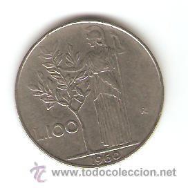 100 LIRAS ITALIANAS 1960 (Numismática - Extranjeras - Europa)