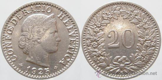 Confederatio Helvetica 1925 20 Rappen Comprar Monedas Antiguas