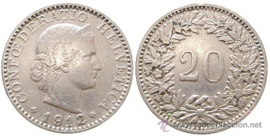Confederatio Helvetica 1912 20 Rappen Comprar Monedas Antiguas