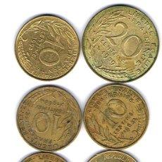 Monedas antiguas de Europa: FRANCIA, 17 MONEDAS DE 20-10 Y 5 CENTIMOS DE FRANCO, MÁS 2 DE 50 CENTIMOS DE FRANOS ANTIGUOS . Lote 27549155