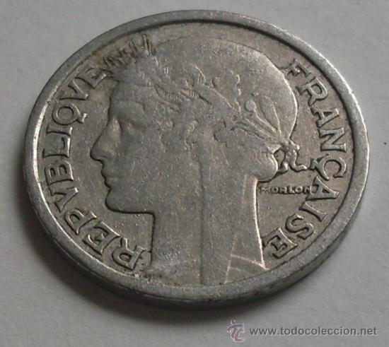 MONEDA 2 FRANCS FRANCOS - 1941 - FRANCIA (Numismática - Extranjeras - Europa)