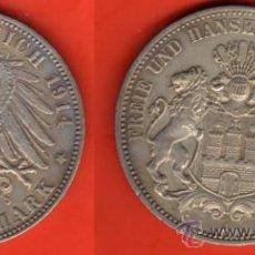 Monedas antiguas de Europa: HAMBURGO, ALEMANIA, 3 MARCOS 1914. Lote 22245101