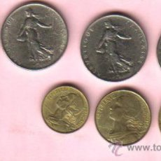 Monedas antiguas de Europa: FRANCIA - LOTE DE 7 MONEDAS EBC. Lote 22387601