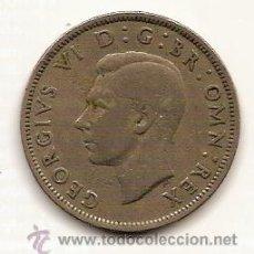 Monedas antiguas de Europa: TWO SHILLINGS--GEORGIVS VI--1947. Lote 24118803