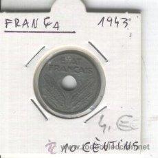 Monedas antiguas de Europa: MONEDA. ANTIGUA. FRANCIA. AÑO 1943. 10 CENTIMOS. RARA. ZINC. BUENA CONSERVACION.. Lote 26328895