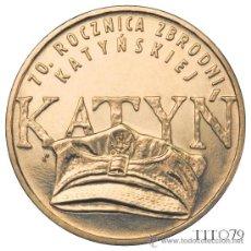 Monnaies anciennes de France: POLONIA 2 ZLOTE 2010 70º ANIV. CRIMEN KATYN. Lote 229670720