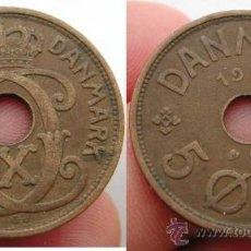 Monedas antiguas de Europa: DINAMARCA DENMARK 5 ORE 1928. Lote 25365930