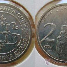 Monedas antiguas de Europa: SERBIA 2 DINARA 2003. Lote 25488244